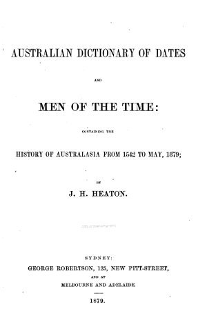 Australian Dictionary of Dates and Men of the Time