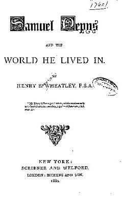 Samuel Pepys and the World He Lived in PDF