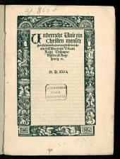 Underricht Wie ein Christen mensch got seinem herren teglich beichten soll, Doctoris Urbani Regii Thurmpredigers zu Augspurg [et]c
