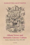 Album Verses and Romantic Literary Culture