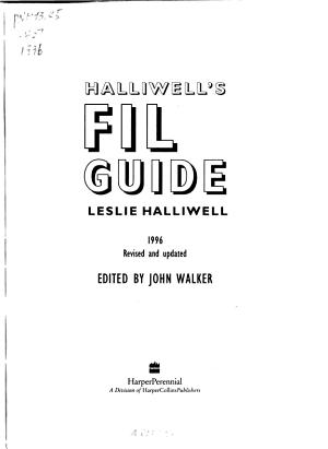 Halliwells Film Guide 1996