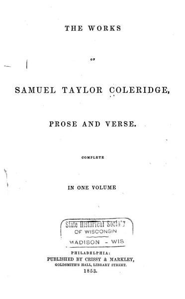 Download The Works of Samuel Taylor Coleridge Book