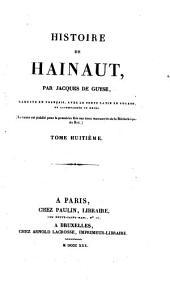 Histoire de Hainaut: Volume8