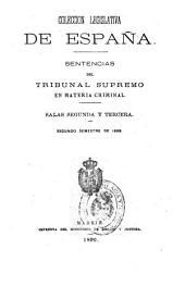 Sentencias del Tribunal supremo de justicia: año de 18