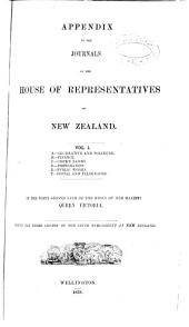 Appendix to the Journals of the House of Representatives of New Zealand: Issue 1