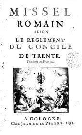 Missel romain selon le reglement du Concile de Trente