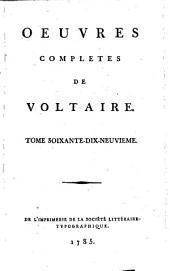 Œuvres complètes de Voltaire: Volume79
