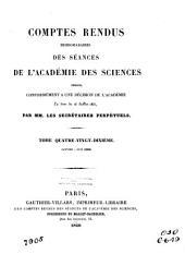 Comptes rendus hebdomadaires des séances de l'Académie des sciences: Volume90