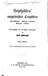 Sophokles' ausgewählte Tragödien: König Oedipus, Oedipus in Kolonos, Antigone, Elektra