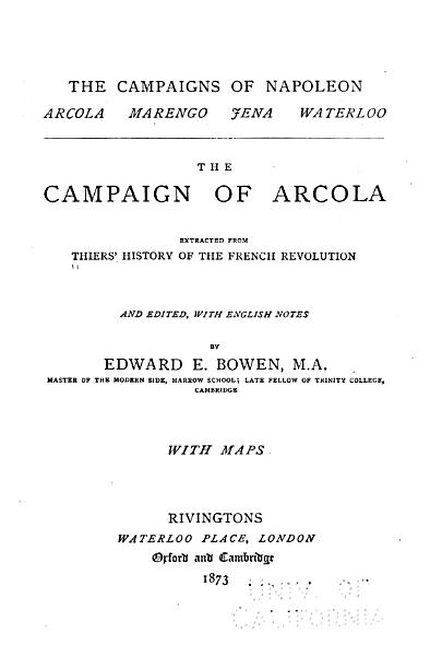 Download The campaign of Arcola Book