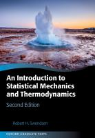 An Introduction to Statistical Mechanics and Thermodynamics PDF