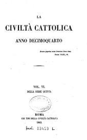 La civiltà cattolica: pubblicazione periodica per tutta l'Italia