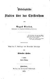 Philosophische Studien über das Christenthum: Band 1