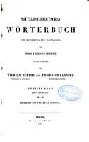 Mittelhochdeutsches W  rterbuch  Bd   1  Abth  M R  Bearb  von Friedrich Zarncke  1863 PDF
