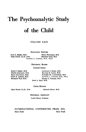 The Psychoanalytic Study of the Child PDF