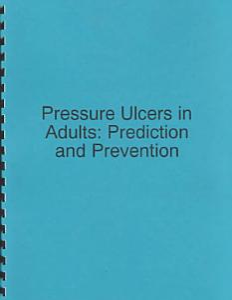 Pressure Ulcers in Adults Book