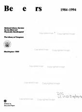 Bestsellers  1984 1994 PDF
