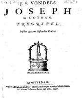 J. v. Vondels Joseph in Dothan: Treurspel, Volume 1