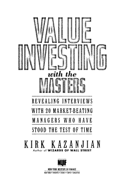 Value Investing with the Masters PDF
