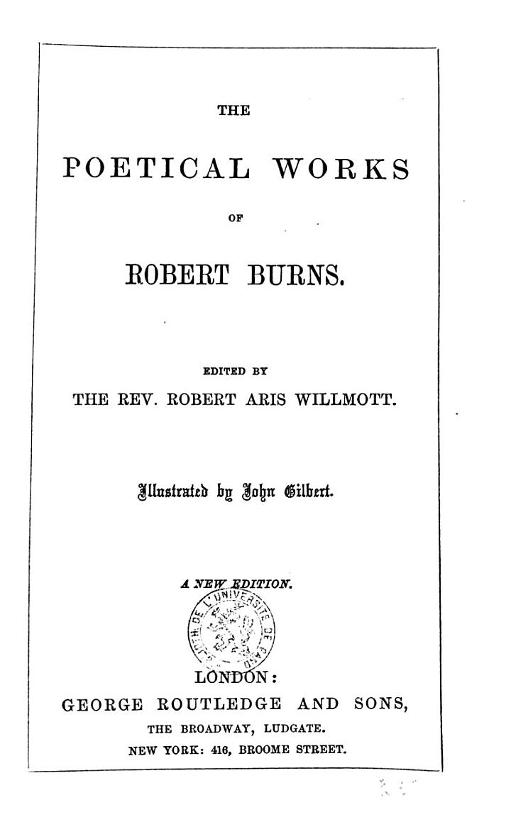 The Poetical Worksof Robert Burns