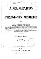 Adelslexikon der Preussischen Monarchie: Band 3