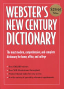 Webster's New Century Dictionary