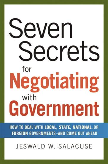 Seven Secrets for Negotiating with Government PDF