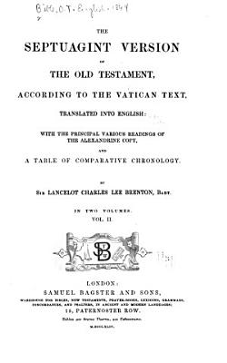 The Septuagint Version of the Old Testament