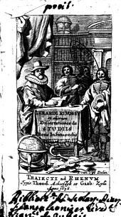 Gerardi Io. Vossy et aliorum Dissertationes de studiis bene instituendis