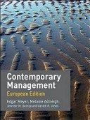 Contemporary Management European Edition With Redemption Card Book PDF