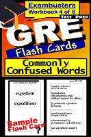 GRE Test Prep Commonly Confused Words Review  Exambusters Flash Cards  Workbook 4 of 6 PDF