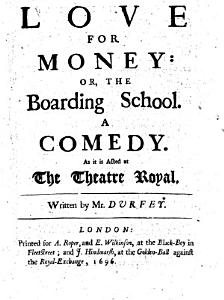 Love for Money, Or, The Boarding School Book