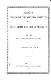 Beiträge Zur Geschichte und Revision Des Textes