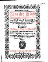 Summarischer Bericht, Was sich in den Philippinischen Insulen, im Jahr Christi 1608. fürnemblich in Geistlichen sachen, vnd fortpflantzung deß heiligen Catholischen Glaubens, denckwürdigs zugetragen