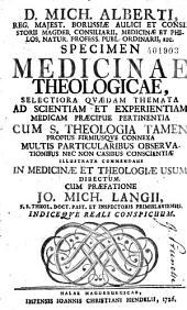Specimen medicinae theologicae