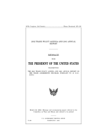 2002 Trade policy agenda and 2001 Annual report   message from the President of the United States transmitting the 2002 Trade policy agenda and 2001 Annual report on the trade agreements program  pursuant to 19 U S C  2213 a   PDF
