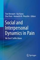 Social and Interpersonal Dynamics in Pain PDF