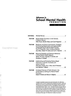 Advances in School Mental Health Promotion PDF