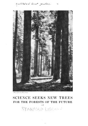 Science Seeks New Trees for the Forests of the Furture PDF