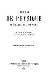 Journal de physique théorique et appliquée: Volume4