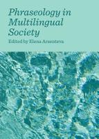 Phraseology in Multilingual Society PDF