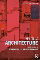 How to Read Architecture PDF