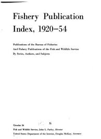 Fishery Publication Index  1920 54 PDF