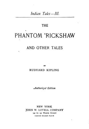 The Phantom  rickshaw and Other Tales PDF