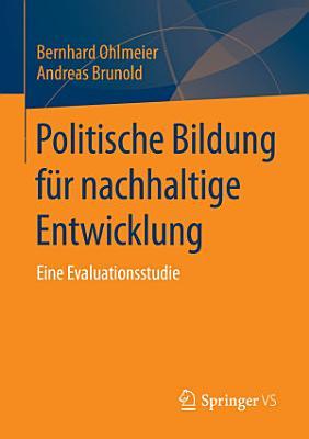 Politische Bildung f  r nachhaltige Entwicklung PDF