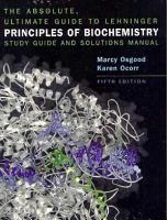 The Absolute  Ultimate Guide to Lehninger Principles of Biochemistry PDF
