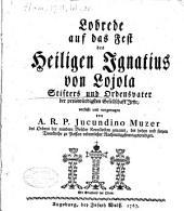 Lobrede auf das Fest des H. Ignatius von Lojola