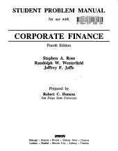 Student Problem Manual for Use with Corporate Finance  Fourth Edition  Stephen A  Ross  Randolph W  Westerfield  Jeffrey F  Jaffe PDF