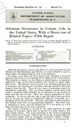 Selenium occurrence in certain soils in the United States, with a discussion of related topics : fifth report: Volumes 751-775