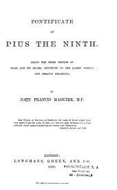 Pontificate of Pius the Ninth
